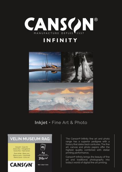 Velin Museum Rag 315 A4 25 Blatt