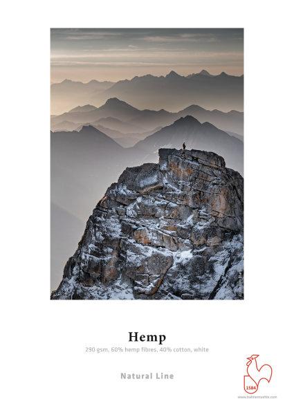 Hahnemühle Hemp Fibre 290 gsm, 60% Hemp fibre, 40% Cotton, white, matt A4 290gsm 25 Blatt