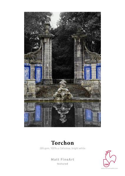 Hahnemühle Torchon 100 % TCF-Zellstoff, hellweiß, grobe Struktur 1,118x12m 285gsm 1 Rolle 3 Zoll