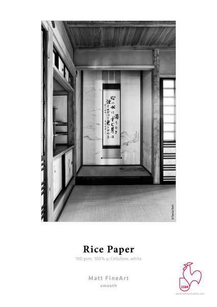 Hahnemühle Rice Paper 100gsm, 100% alpha-Cellulose, white 1,118x30m 100gsm 1 Rolle 3 Zoll