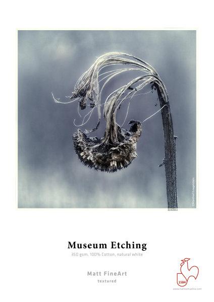 Hahnemühle Museum Etching 100% Baumwolle, naturweiß 1,118x12m 350gsm 1 Rolle 3 Zoll