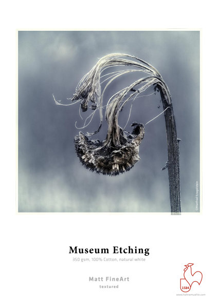Hahnemühle Museum Etching 100% Baumwolle, naturweiß 0,432x12m 350gsm 1 Rolle 3 Zoll