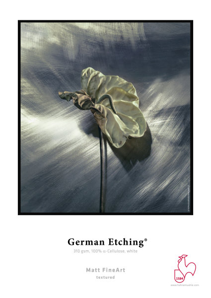 Hahnemühle German Etching 310 gsm, 100% a-Cellulose, white DIN A3+ 310gsm 25 Blatt