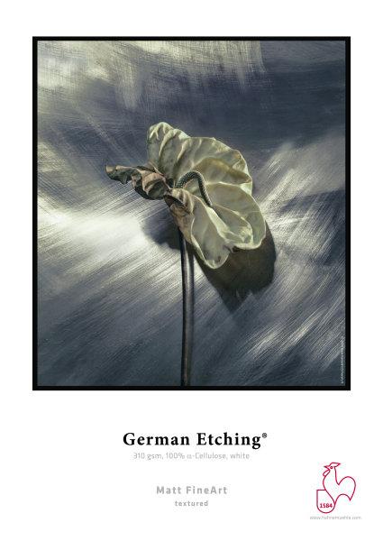 Hahnemühle German Etching 100 % TCF-Zellstoff, naturweiß 0,610x12m 310gsm 1 Rolle 3 Zoll