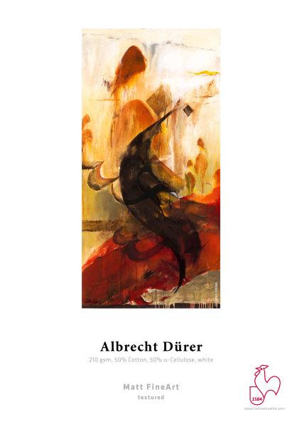 Hahnemühle Albrecht Dürer 50 % Hadern, naturweiß 0,610x12m 210gsm 1 Rolle 3 Zoll