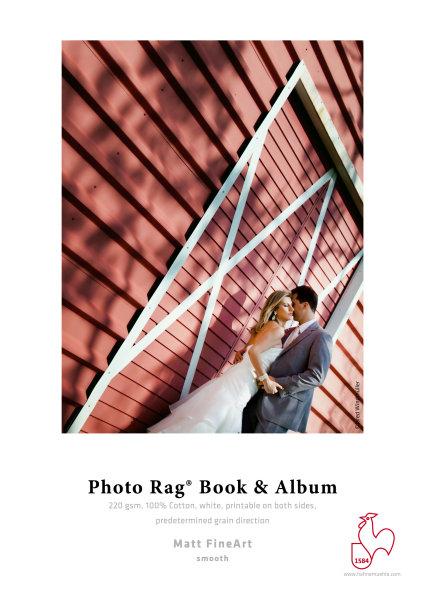 Hahnemühle Photo Rag® Book&Album 220 Schmalbahn - 220 gsm - 100% Cotton, white DIN A2 220gsm 25 Blatt