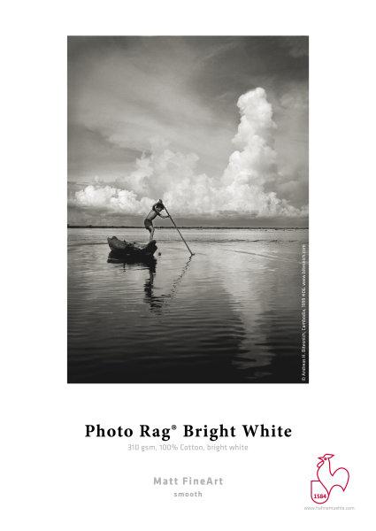 Hahnemühle Photo Rag® Bright White 100% Hadern, hellweiß 0,914x12m 310gsm 1 Rolle 3 Zoll