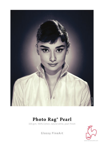Hahnemühle Photo Rag® Pearl 320 gsm, 100% Cotton, natural white, pearl DIN A3+ 320gsm 25 Blatt