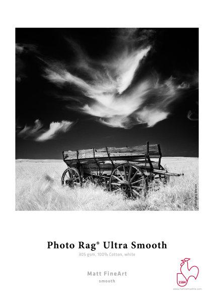 Hahnemühle Photo Rag® Ultra Smooth 305 gsm, 100% Cotton, white DIN A3+ 305gsm 25 Blatt