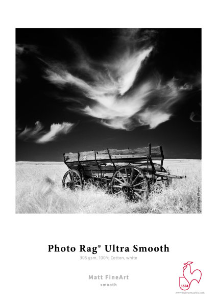 Hahnemühle Photo Rag® Ultra Smooth 305 gsm, 100% Cotton, white DIN A4 305gsm 25 Blatt